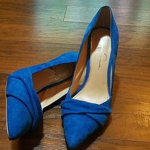 Jessica Simpson Blue Heel Suede Shoes